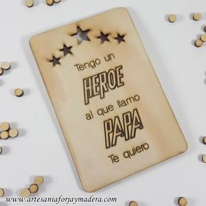 Tarjeta Papa Heroe