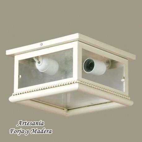 Plafon de hierro for Plafones exterior iluminacion