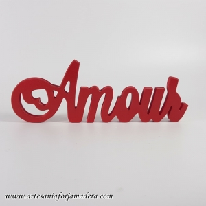 "PALABRA DECORATIVA ""Amour"""