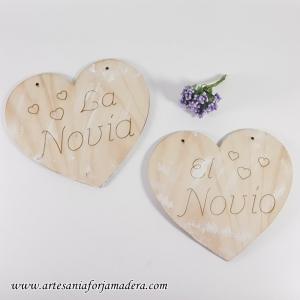 CARTEL CORAZON NOVIO + NOVIA