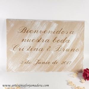 """Cartel """"Bienvenidos a nuestra boda"""""""
