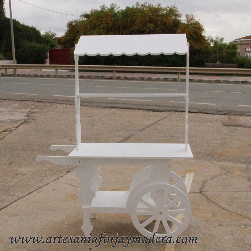 Carro de chuches para eventos for Carrito bar de madera