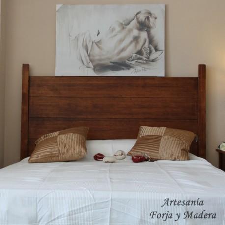 Cabecero de madera rustico con duelas - Cabeceros de cama en madera ...