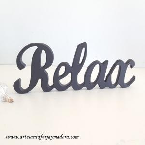 """Letras decorativas """"Relax"""""""