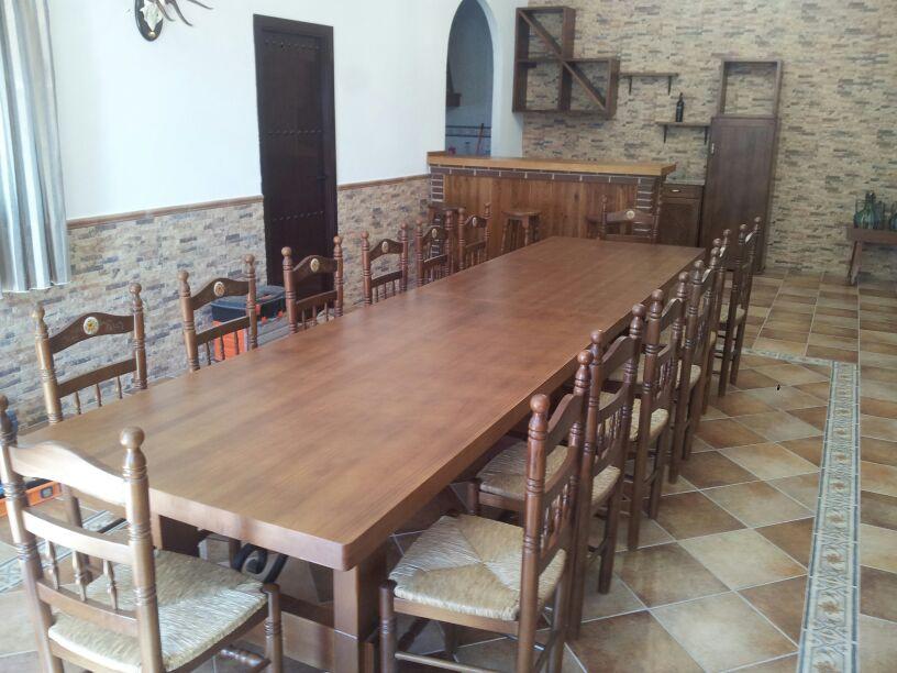 Artesan a forja y madera - Mesa salon madera ...