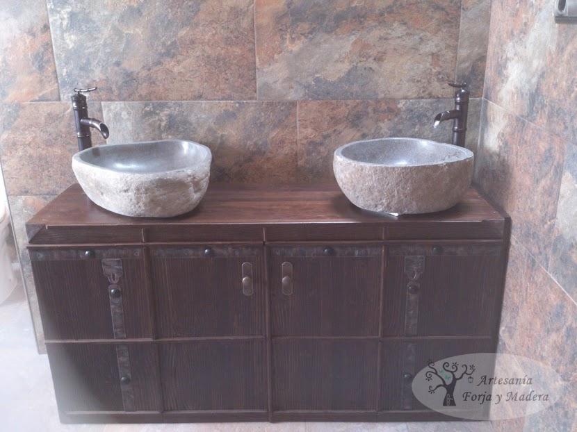 Mueble Baño Original:Mueble Baño Rustico con mucho Estilo