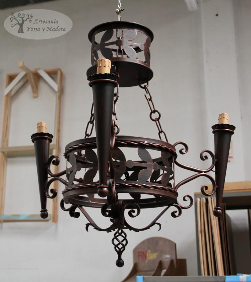 Artesan a forja y madera - Portavelas de hierro ...