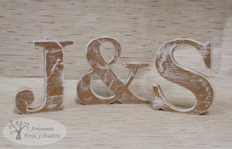 Artesan a forja y madera - Letras de madera decorativas ...