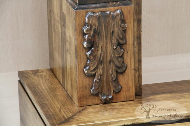 frente para chimenea realizado en madera