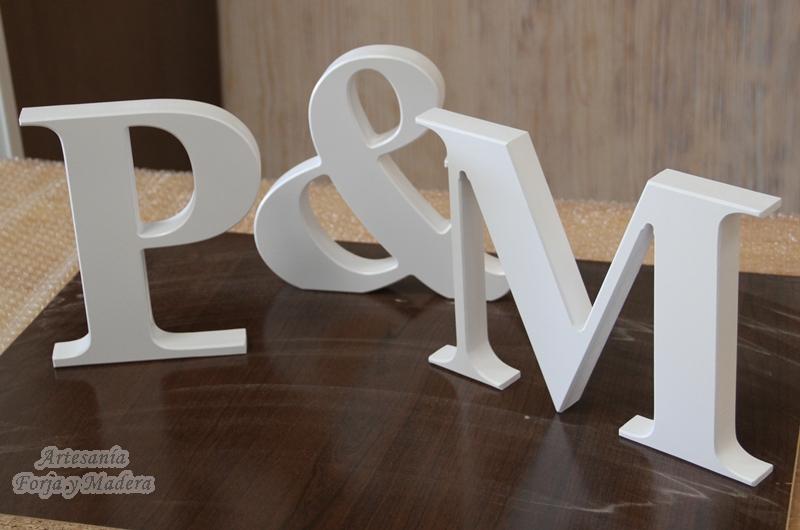 Artesan a forja y madera - Letras de madera para decorar ...