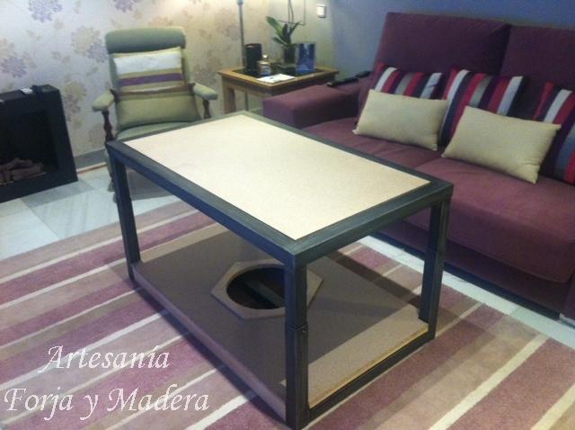 Artesan a forja y madera - Mesa camilla moderna ...