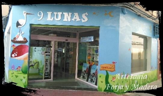 Letras de Madera para 9 Lunas