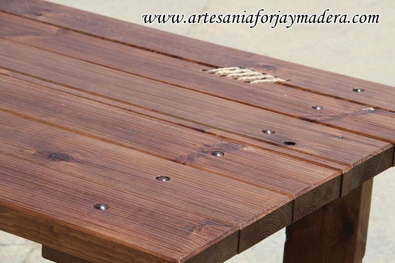 Artesan a forja y madera - Mesa rustica madera ...