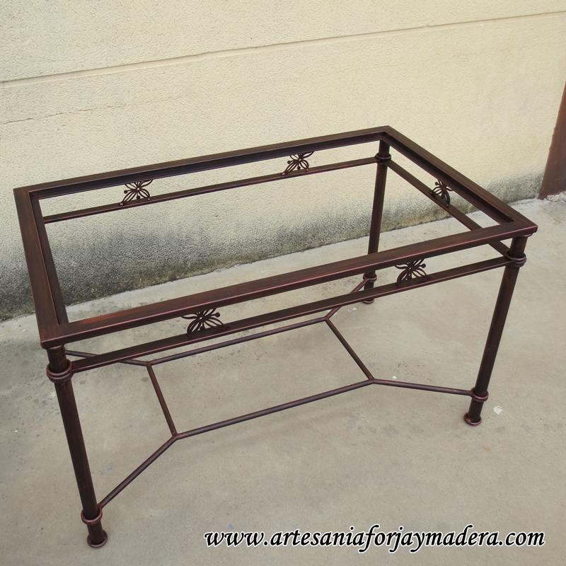 mesa camilla de hierro