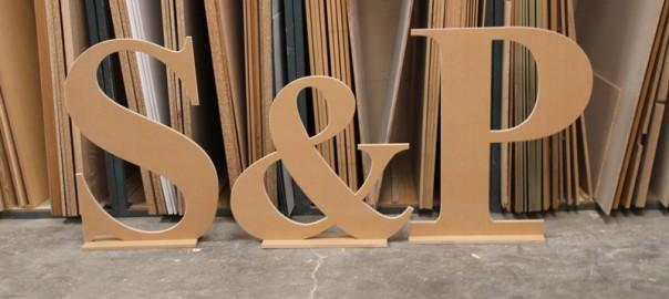 letras para bodas de madera
