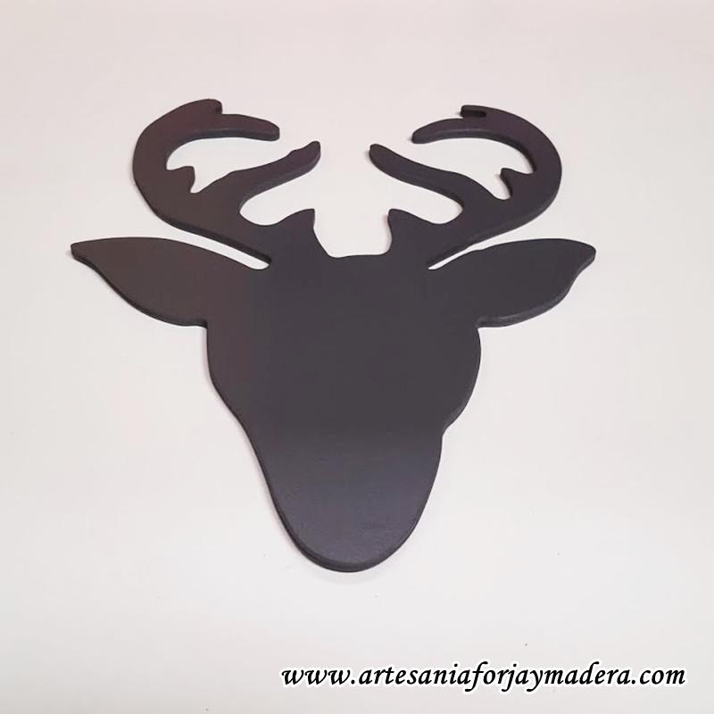 Artesan a forja y madera for Cabeza de ciervo