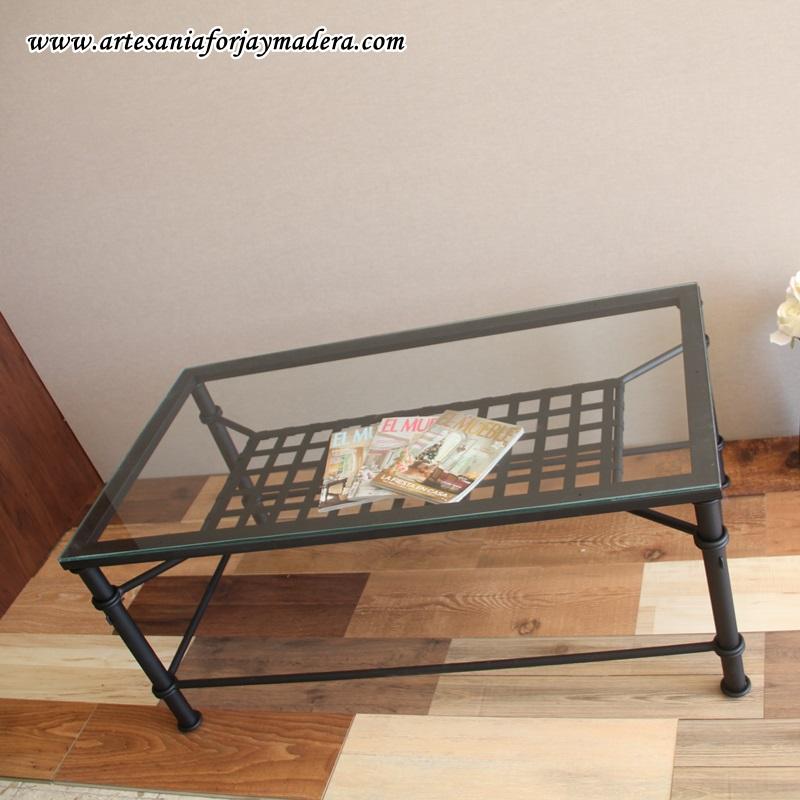 Artesan a forja y madera for Mesa forja elevable