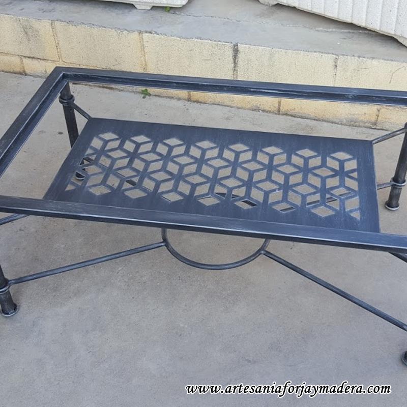 mesa elevable hierro geometria 6