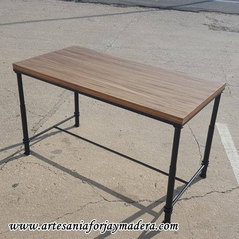 mesa elevable de forja y hierro
