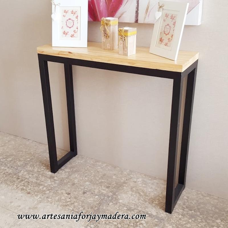 Artesan a forja y madera - Consola estilo industrial ...
