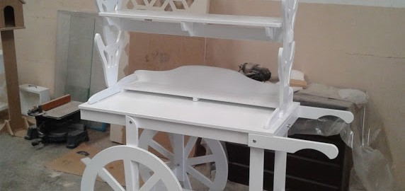 Artesan a forja y madera for Mesa carro bar madera