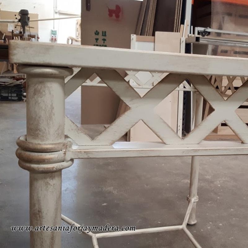 mesa de hierro dos alturas 2
