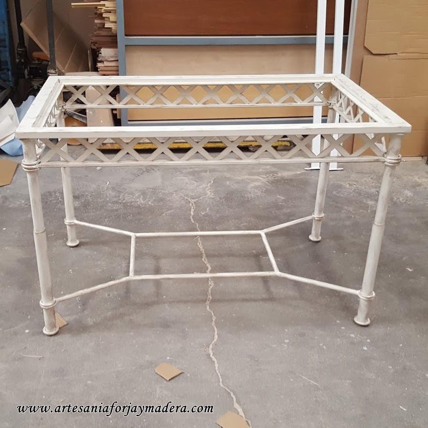 mesa de hierro dos alturas