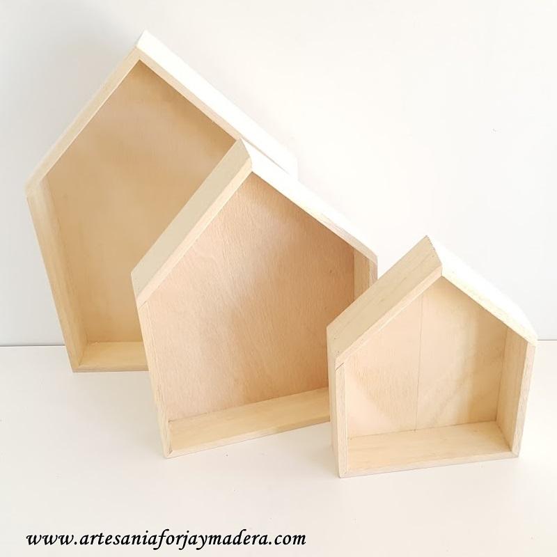 casitas de madera estante 1