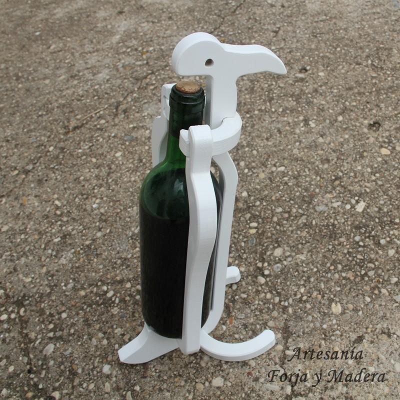 botellero-pinguino-madera