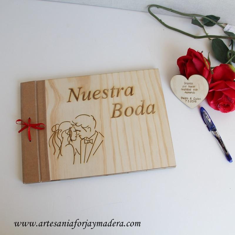 libro de firmas madera original (2)