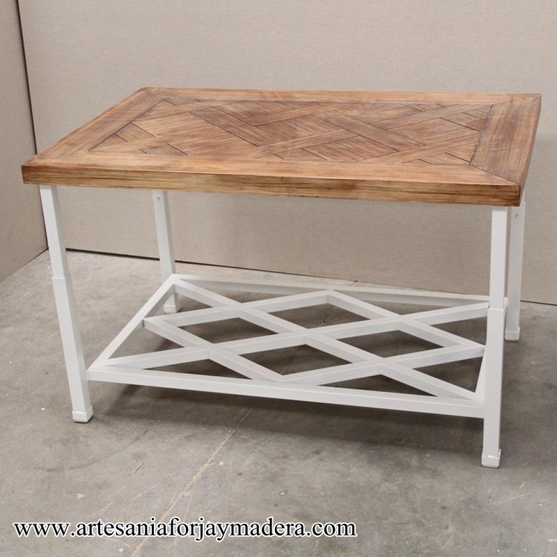mesa camilla de hierro forja revistero (1)
