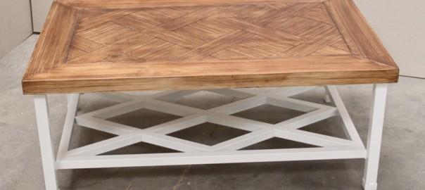 mesa camilla de hierro forja revistero (2)