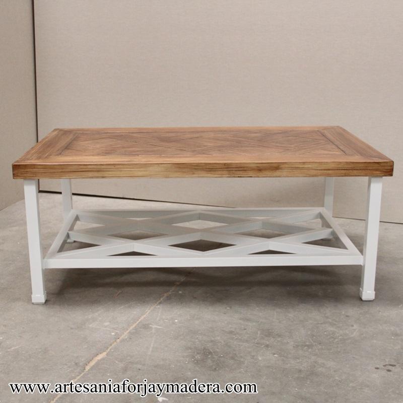 mesa camilla de hierro forja revistero (3)