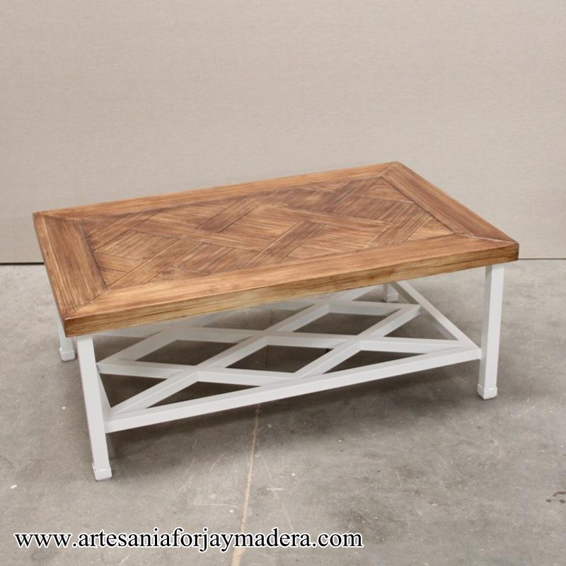 mesa camilla de hierro forja revistero (4)