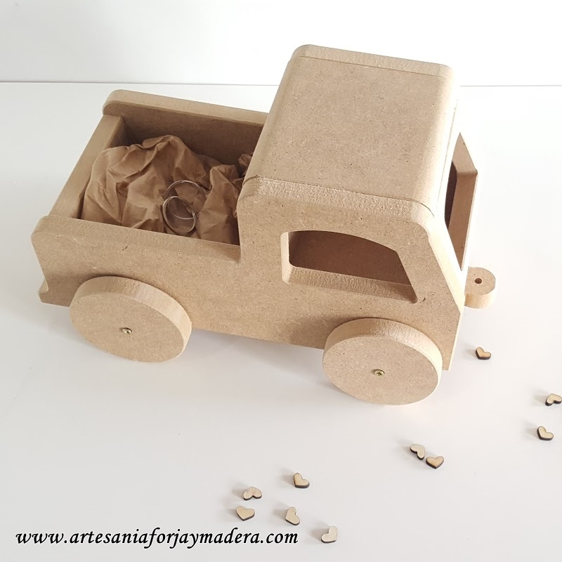 Camion Porta Alianzas para Bodas
