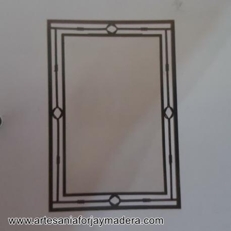 Espejo de forja moderno for Espejo marco espejo