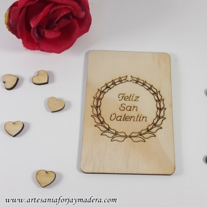 Tarjeta San Valentin Laurel