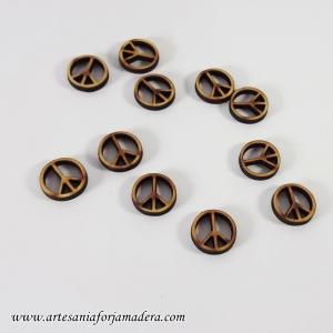 Mini Simbolo Paz madera
