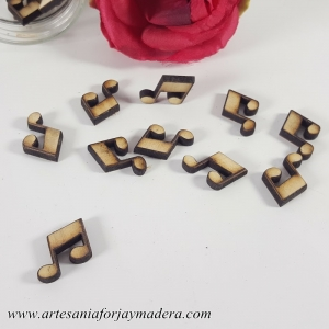 Mini Notas Musicales de madera