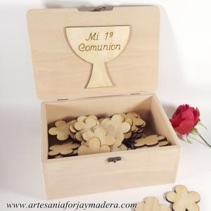Caja de Firmas Comunion Flores (50 siluetas)