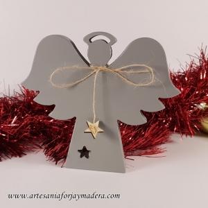 Silueta de Pie Angel Navidad