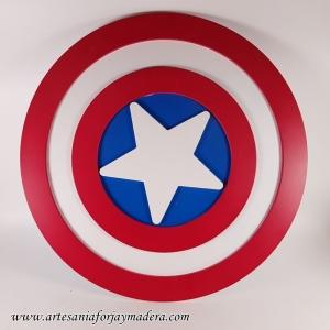 Silueta 3D: Escudo Capitan america