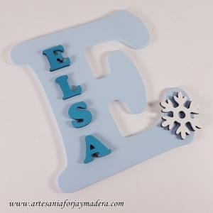 Letras Elsa Frozeen de pared