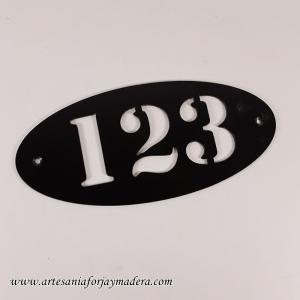 Numero Puerta Ovalo
