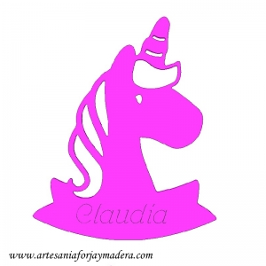 Silueta unicornio Puerta o Pared