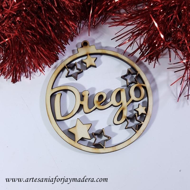 c8aeed6f80dba Adorno Navidad Bola Estrella con nombre