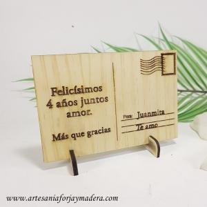 Postal de Madera