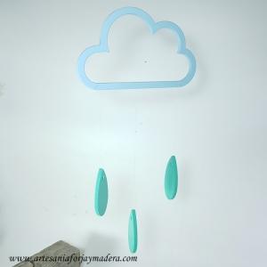 Colgante de Techo Nube con Gotas