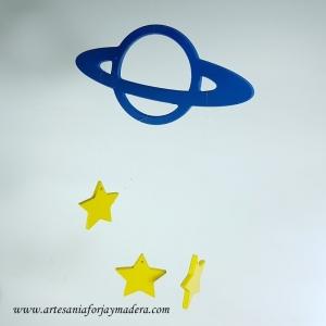 Colgante de Techo Planeta con Estrellas