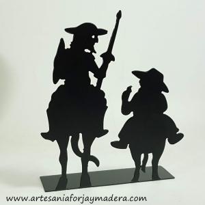 Silueta de Hierro o Sujetalibros el Quijote